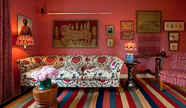There is alabyrinthine money trail used for the cost of the £58,000 renovations. Pictured, Lulu Lytle furnishings