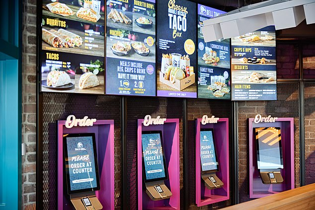 Other features include free WiFi, USB charging stations and kiosk ordering screens
