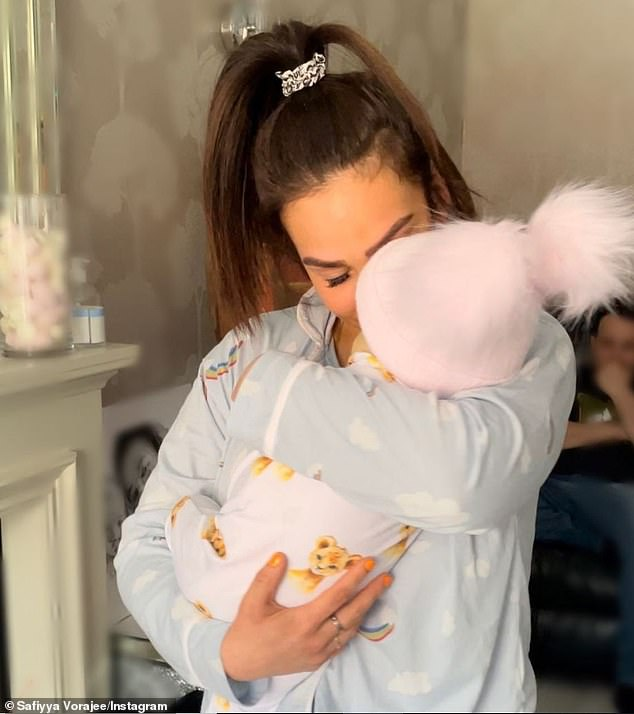 Devastating:Ashley Cain's girlfriend Safiyya Vorajee has admitted 'everyday is getting harder' after their daughter Azaylia tragically passed away from acute myeloid leukaemia