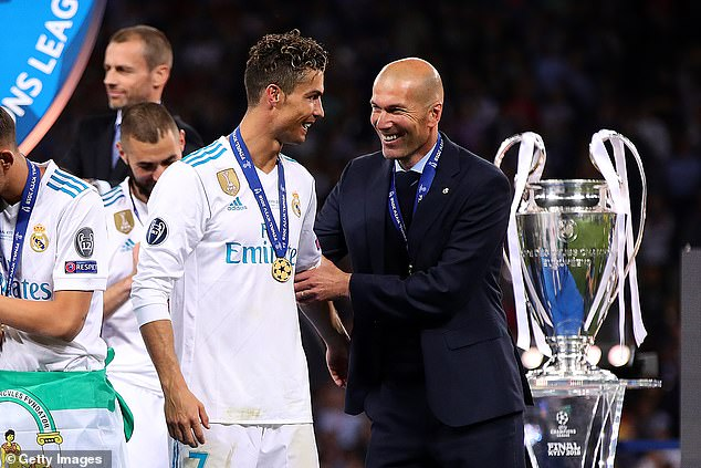Ronaldo (left) is targeting a sixth Champions League but is running out of opportunities