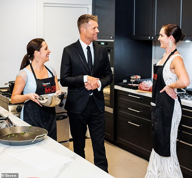 Compensation: According to a report by news.com.au on Tuesday, the network has been forced to pay Piper over $22,000 a year after she claimed she suffered 'psychological injury' on the show. Pictured with former judge Pete Evans