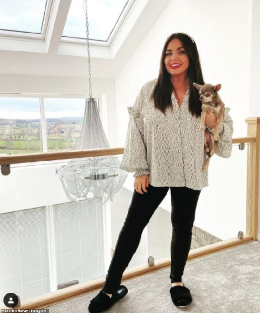 Show and tell:The TV presenter has spent weeks extensively renovating her 'dream house' with boyfriend Scott Dobinson