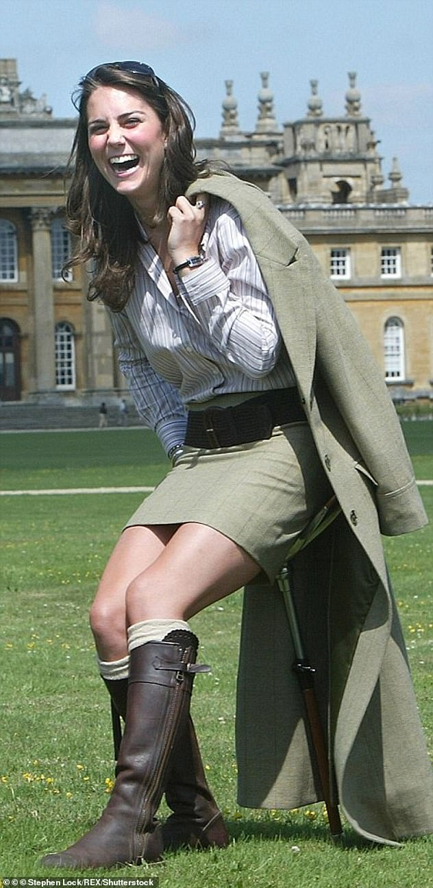 August, 2004: Kate was first spotted in the £475 brown boots at the Game Fair at Blenheim Palace in August 2004, pictured