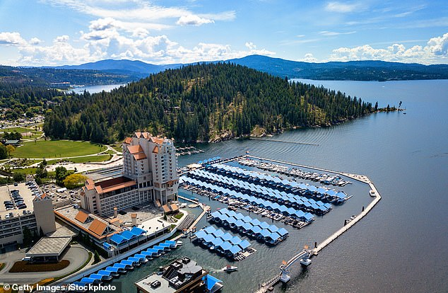 The Idaho city of Coeur d¿Alene sits on the shores of the 30-mile Lake Coeur d¿Alene (pictured)
