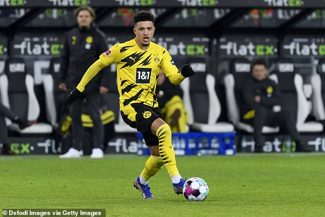 Sancho was heavily linked with a move to Liverpool's rivals Manchester United last summer