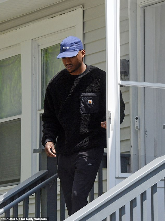 The married father-of-two was photographed Tuesday outside his West Orange, New Jersey home where he lives with his wife