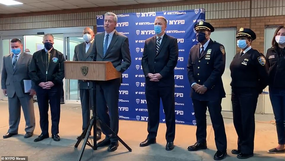 'He did everything right in his life for us and he is dead because of other people's negligence,' Mayor Bill de Blasio said of Officer Tsakos at a press conference on Tuesday morning