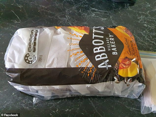 The mum makes a whole loaf of toasties, wraps them in greaseproof baking paper and then pops them back in the bread bag
