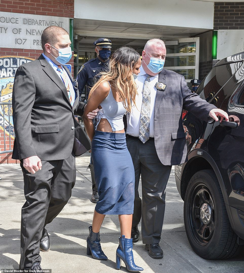 Jessica Beauvais, 32, faces 13 charges after allegedly striking NYPD police officer with her car on the Long island Expressway on Tuesday morning