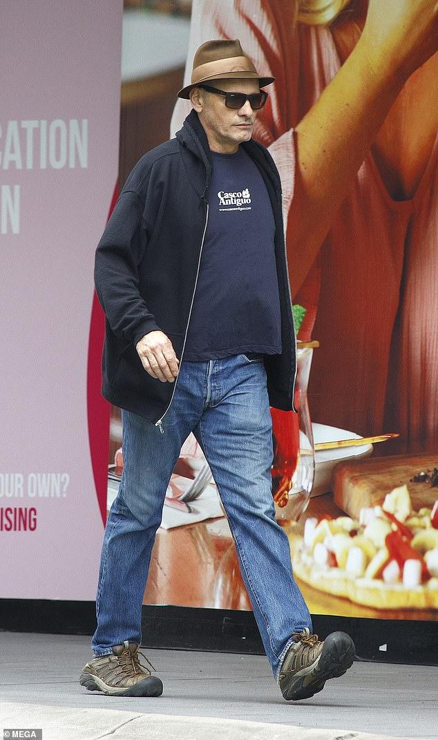 Superstar sighting: Fellow Thirteen Lives star Viggo Mortensen, 62, also attempted to fly under the radar as he went for a walk