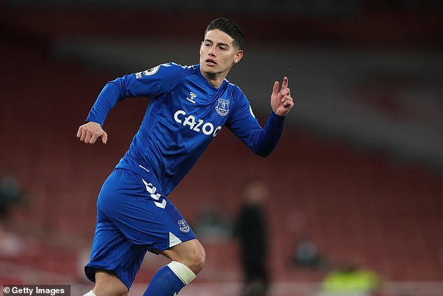 Everton are reportedly looking to agree a contract extension with playmaker James Rodriguez