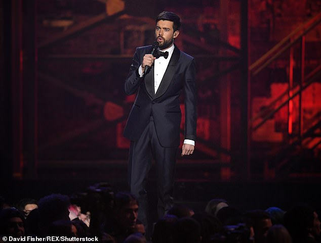 Hosting again:The comedian who is reprising his role as MC for the ceremony for the third time, will take to the stage at London's O2 Arena on May 11