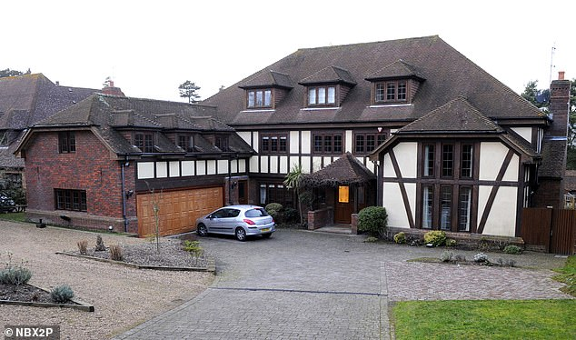 Lavish crib:In September 2013, just months after declaring bankruptcy, she moved into a £5,500-a-month mansion which was valued at £3million at the time