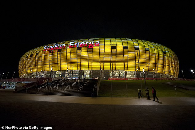 Gdansk Stadium in Poland is due to host the Europa League final on May 26 this year