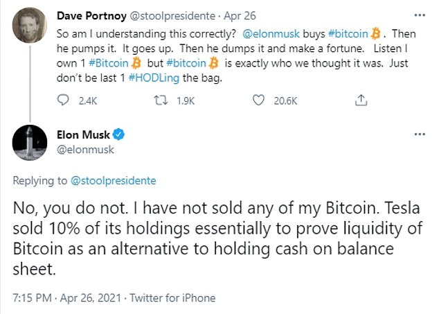 Musk responded to Barstool Sports founder Dave Portnoy's 'pump and dump' allegations