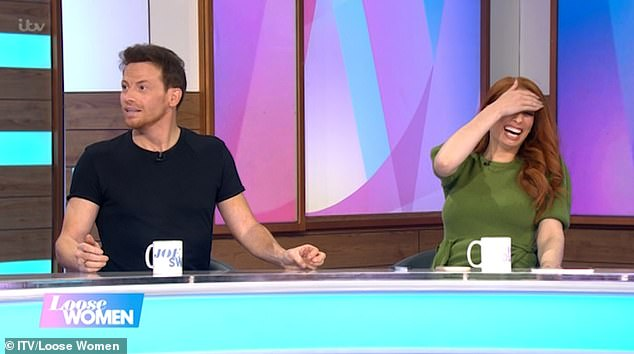Expletive: Taking to Twitter, one viewer wrote: 'Joe swearing is the highlight of this show today', while another chimed: 'Did Joe swear?'