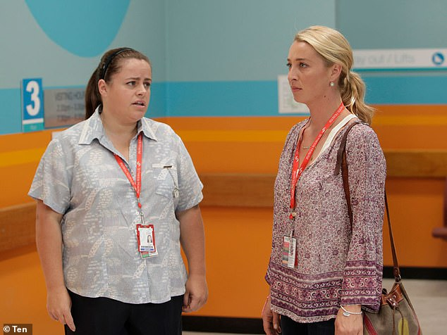 Lead star: Most notably is her role on the Channel 10 comedy drama Offspring as Dr Nina Proudman. Pictured left is Offspring co-starAlicia Gardiner
