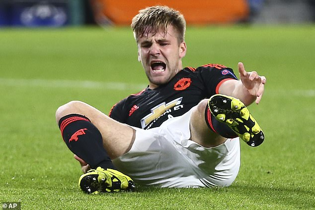 Shaw suffered a double leg fracture after PSV's Hector Moreno attempted a tackle in 2015 in the Champions League group stages. Shaw was out for almost a year