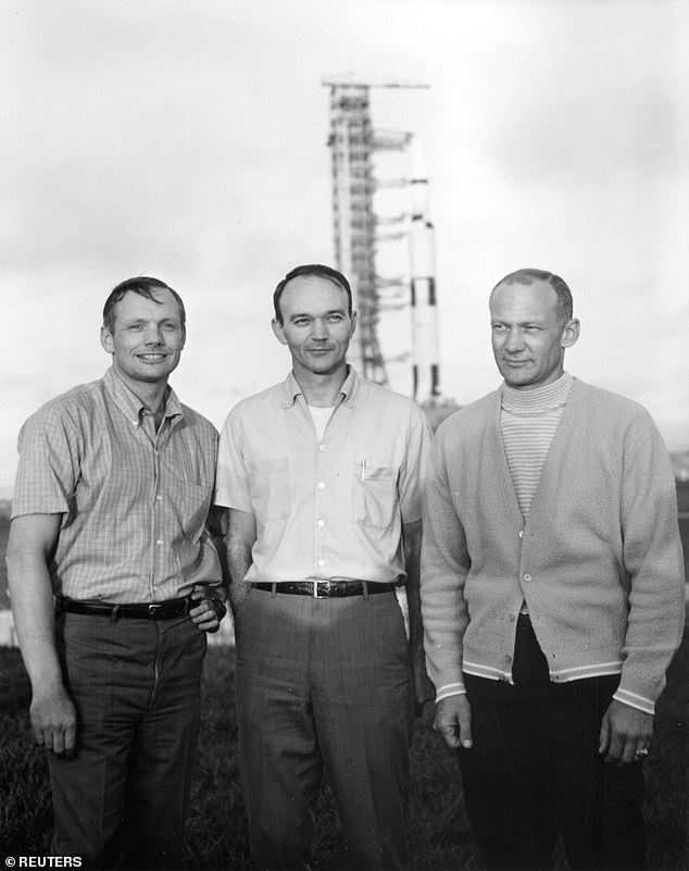 Collins (middle) was born in Rome, Italy on October 31, 1930 - the same year as both Neil Armstrong (left) and Buzz Aldrin (right)
