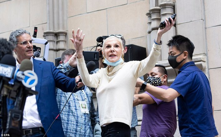 Rudy Giuliani's neighbor Michele Hebert, the ex-wife of Pantone creator Larry Hevert, said she saw the FBI 'taking a lot of stuff' out of his Upper East Side apartment during their raid on Wednesday