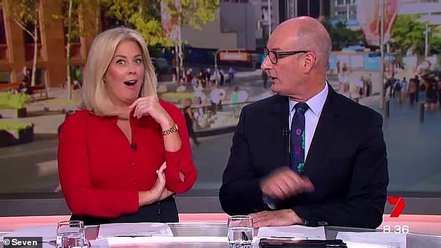 'I annoy them': Sunrise weatherman Sam Mac reveals the TRUTH about his relationship with Channel Seven co-stars after that 'longstanding feud' with Samantha Armytage (left). Pictured with David 'Kochie' Koch