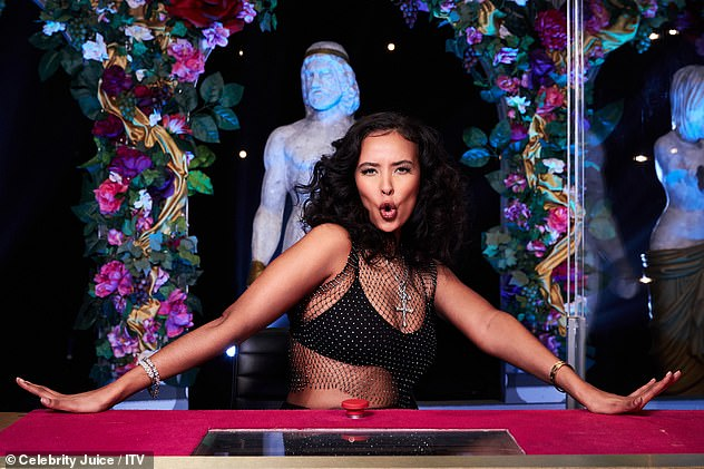 New:Maya was announced as a regular panellist on Celebrity Juice in April for the 25th series