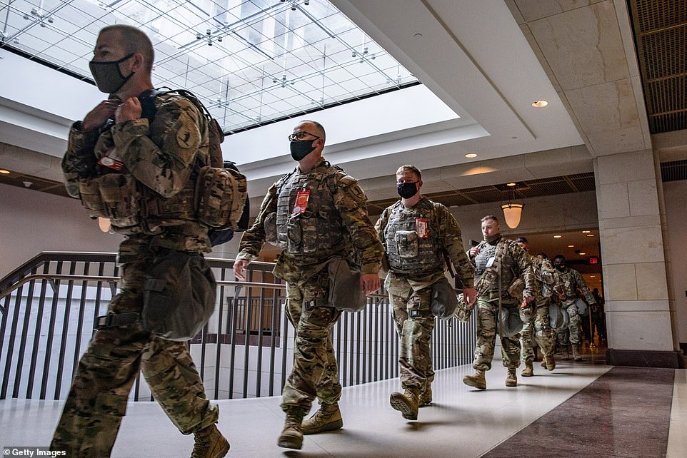 National Guard forces have been protecting the Capitol since the Jan. 6th riot