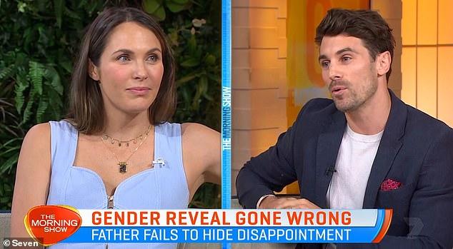 Sorpresas: Matty Johnson y Laura Byrne de The Bachelor hablaron sobre el tema de la 'decepción de género' durante una aparición en The Morning Show de Channel Seven el jueves.