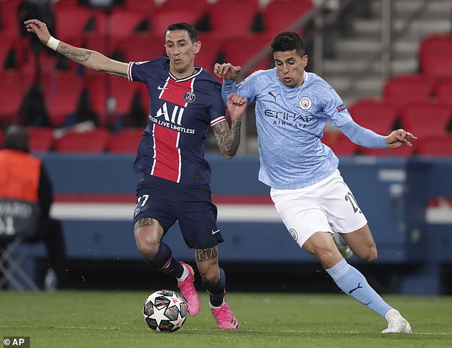 Joao Cancelo (right) was given the runaround all evening and he scored a City-low 4/10 score