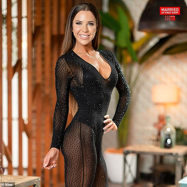 In love: She failed to find love on this year's season of Married At First Sight, but Coco Stedman has had better luck offscreen