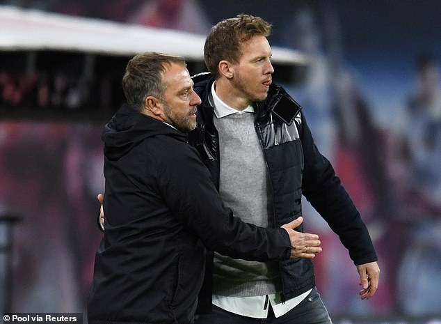 Nagelsmann (right) replaces Hansi Flick in German football's managerial merry-go-round