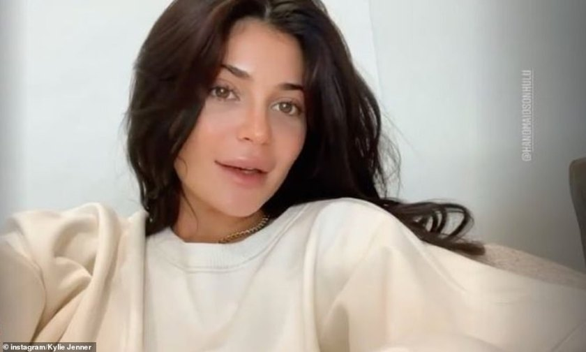 Confident: Kylie showed off her stunning looks and flawless complexion this week