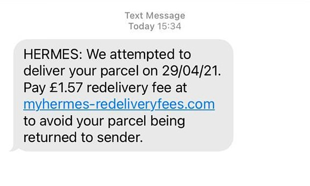 Fake Hermes delivery messages also try to get innocent victims to part with their cash