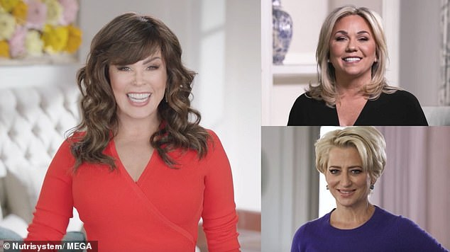 Shedding season! Reality stars Dorinda Medley, 56, and Julie Chrisley, 48, reveal incredible weight loss success alongside entertainer Marie Osmond as part of the Nutrisystem Real Talk commercial