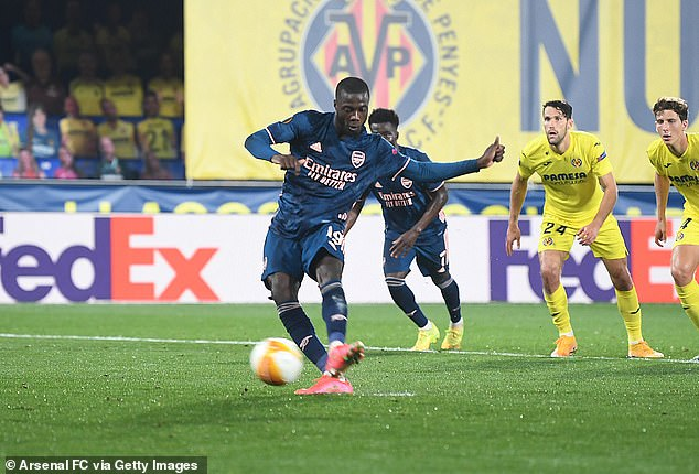 Nicolas Pepe converted the spot-kick to pull a goal back for the Gunners as they lost 2-1