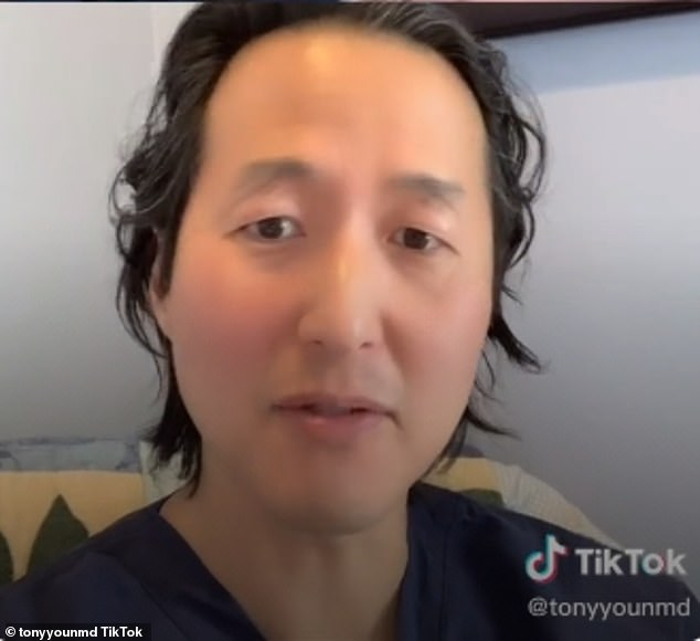 'That's why it's bloated': In a TikTok video uploaded last week, Dr Anthony Youn claimed Zac may have had dental surgery, but not plastic surgery, as some fans have l 'assumed