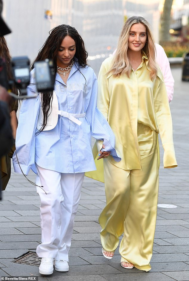 Looking good:It came as Perrie Edwards, Jade Thirlwall and Leigh-Anne Pinnock put on a glamorous display as they began promoting their single Confetti