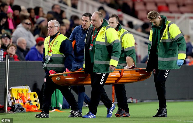 McQueen had to be stretchered off while playing for Middlesbrough on loan against Crystal Palace in a League Cup clash in October 2018 and has not played a match since