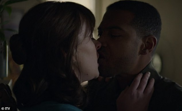 Noel Clarke pictured in the five-part drama Viewpoint, which follows a tense police surveillance investigation into a tightknit Manchester community. The show went ahead on ITV last night (including this sex scene with co-star Alexandra Roach) despite the furore