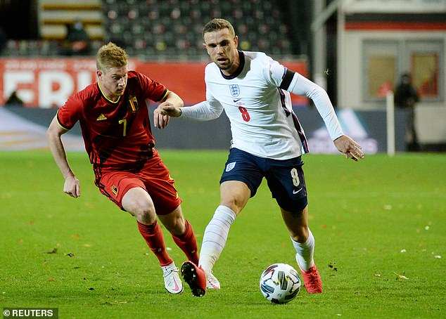 The striker won the support of his many stars, like Jordan Henderson and Kevin De Bruyne