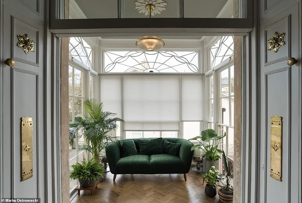 The sun room sits above the main entrance to the block and is the perfect spot to enjoy the summer sunshine