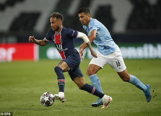 City beat Paris-Saint Germain 2-1 in midweek even though PSG's Neymar (left) was on fire