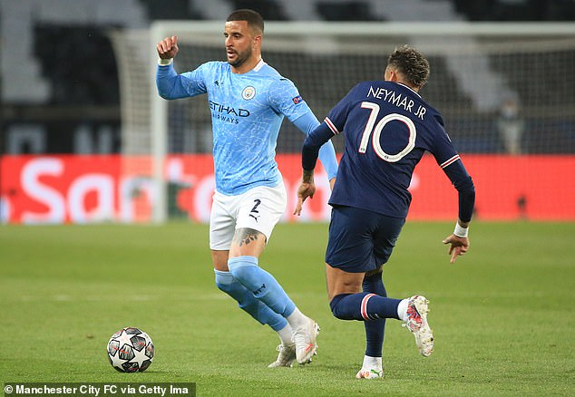 Kyle Walker did not put a foot wrong for Manchester City in their first-leg win at PSG this week