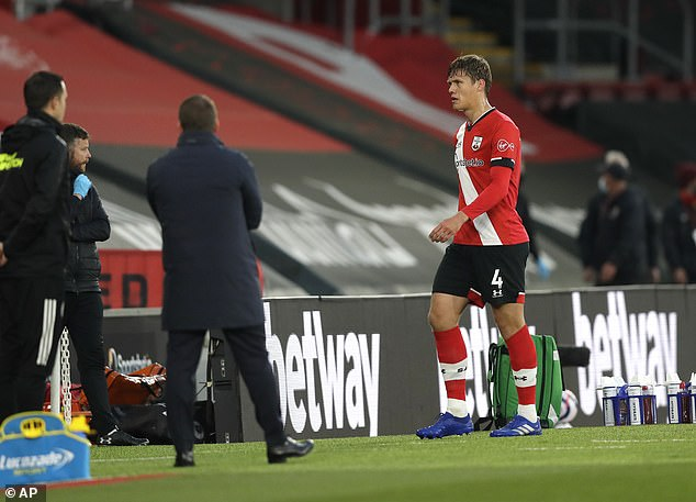 Jamie Redknapp claimed Southampton's Jannik Vestergaard should not have been sent off against Leicester on Friday night