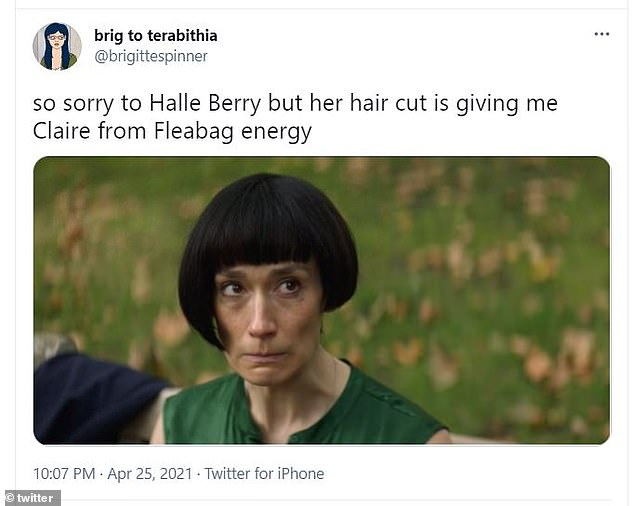 Yikes: Some people thought it looked similar to Claire terrible asymmetrical bob on Fleabag