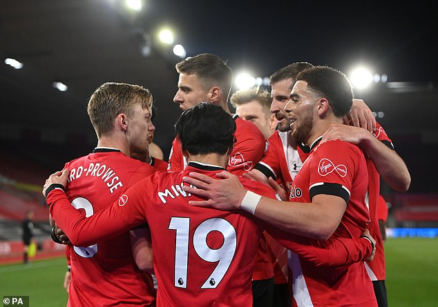 The Saints defended superbly before James Ward-Prowse put them into the lead from the spot