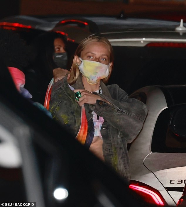 Mystery: The actor headed out with his female friend to the California eatery following Willow's public revelation
