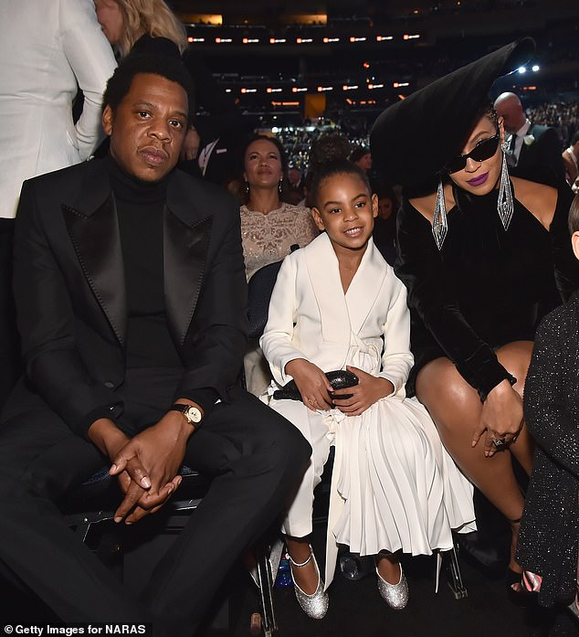 Runs in the family: This comes after his eldest child - daughter Blue Ivy - won her first Grammy for Best Music Video as a featured artist on Brown Skin Girl by her mother Beyoncé