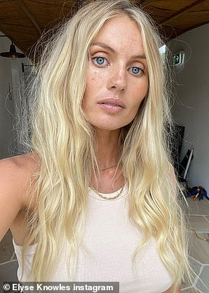 Before and after: The model showed off her pre-baby glow (pictured) verses her post-baby appearance