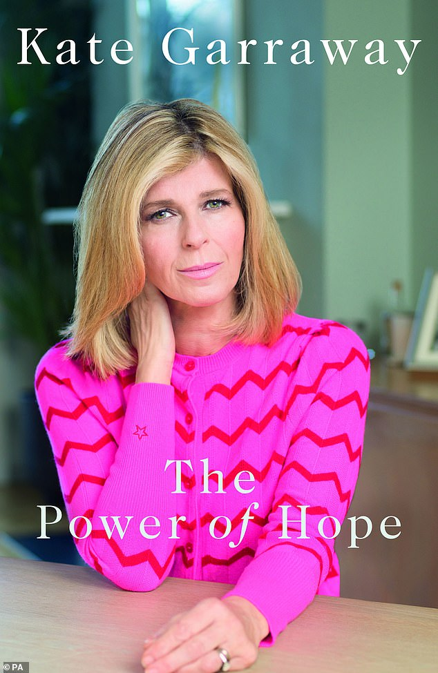 Chart-topping:Kate Garraway's new emotional memoir, pictured, about her husband Derek Draper's battle with Covid jumped to the top of the book charts in its first week of sales